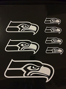 (7) Seattle Seahawks Vinyl Car Window Sticker / Decal (6 Colors available)