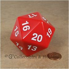 NEW 55mm Red Giant Jumbo Countdown D20 Life Counter Dice MTG RPG
