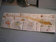 MANHATTAN NEW YORK CITY COLOR WALL MAP September 1990 National Geographic MINT
