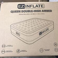 EZ INFLATE Dual Pump Technology Queen air Mattress with Built in Pump