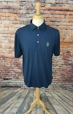 Peter Millar Summer Comfort Men's Short Sleeve Navy Athletic Golf Polo Shirt M
