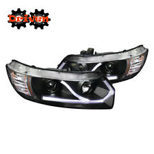 Honda Civic 06-11 2dr FA FG Coupe Projector Headlights DRL LED Black Running