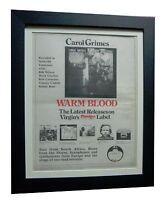 CAROL GRIMES+Warm Blood+RARE ORIGINAL 1974 POSTER AD+FRAMED+EXPRESS GLOBAL SHIP