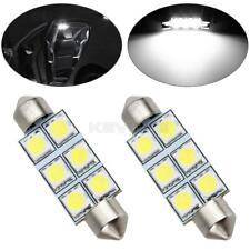 2x Super White 42mm 6 SMD 5050 LED Bulbs Festoon Dome Map Cargo Light 578 211-2