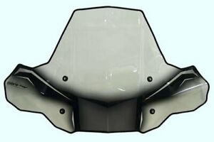 PowerMadd 24574 ProTEK Windshield for ATV Rapid Release Mnt Clear black graphics