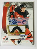 2019 UD TEAM CANADA JUNIORS AUTO PATCH /199 Shane Bowers 24