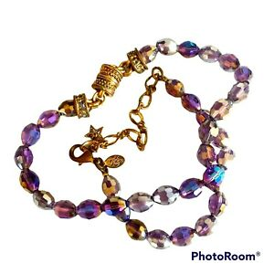 Kirks Folly Necklace Aurora Borealis Claw Clasp and Magnetic Fastening