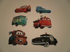 Fabric Applicques of Disney Car Characters