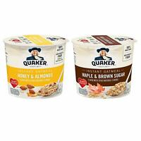 Quaker Instant Oatmeal Express Cups, Variety Pack, Brown Sugar & Honey , 12 Cups