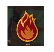 MSM Morale Patch Milspec Monkey - Fire Ball FireBall Flame Bomb - RED Yellow