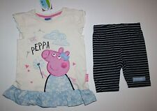 New Peppa Pig Summer Lovely Tunic Top & Shorts Set 3 4 Year 104cm UK Brand TU