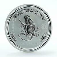 Australia $1 Year of the Monkey Lunar Series I 1 Oz Silver coin 2004