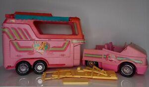 Mattel Barbie Pferd Zubehör - Luxustrailer Auto + Pferdeanhänger Anhänger pink