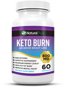 Keto Burn Diet Pills Shark Tank BHB Weight Loss Supplement Burn Fat 800MG