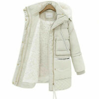 Womens Quilted Padded Puffer Bubble FauxFur Collar Warm Thick Ladies Jacket Coat