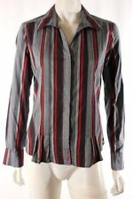Cotton Blend Button-Down Striped Tops & Blouses for Women