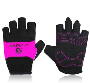 X-TIGER MTB Bike Bicycle Glove Anti-slip Anti-sweat Men Women Half Finger Gloves