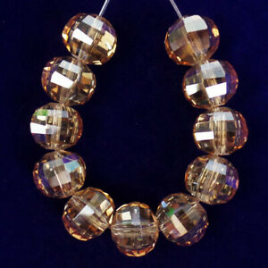 11Pcs/Set 9x8mm Faceted Orange Crystal Rondelle Pendant Bead M99525