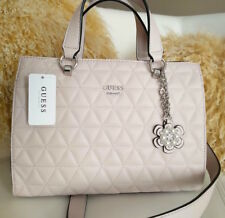 Guess Shoulder bag Tote Blush/Rose Everly Pattern Purse Charm Zip NWT