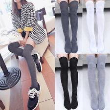 Fashion Ladies Women Girls Thigh High OVER KNEE Socks Long Cotton Stockings