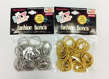 Expressions DIY Fashion Bands Bracelet Rubberband Kit Silver & Gold 48PC 2 PACK