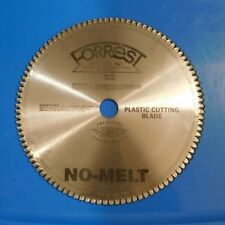 Forrest NM3010011125 No Melt 300mm 100 Tooth 30mm Arbor 1/8-Inch Kerf Plastic