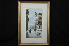 Aquarelle, Venise, F. Jeannin-Gros  / Watercolor, Venice, Italy 19th century