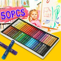 50 Color Waterproof Oil Pastels Box Set Inscribe Artist Drawing Assorted