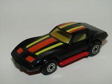 Matchbox Superfast No 62 Chevrolet Corvette AMBER GLASS RED BASE VN Mint UB RARE