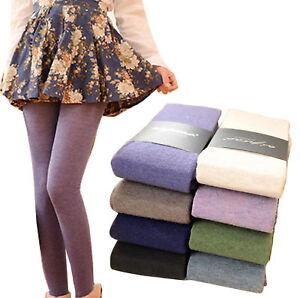 Women Winter Spring Cashmere Stockings Warm Wool Tights Pantyhose Seamless Socks