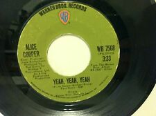 "ALICE COOPER Be My Lover / Yeah Yeah Yeah 1972 45 7"" hard rock VG plays great"