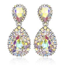 Halo Drop Austrian Crystal Rhinestone Chandelier Dangle Earring Prom E117a