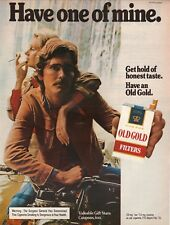 Old Gold Filters Cigarettes--1973 Motorcycle Magazine Advertisement