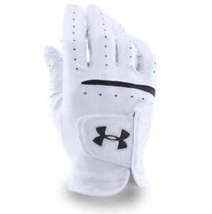 Under Armour UA Strikeskin Tour Glove White Golf Glove Left Hand Size M
