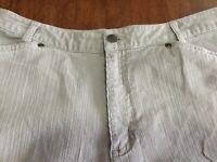 J Jill stretch pale gray corduroy boot cut pants 10