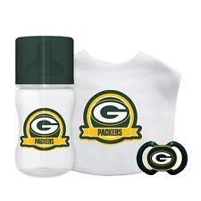 Green Bay Packers Infant Baby Fanatic Gift Set Bottle Bib Pacifier Bpa Free Nfl