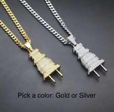 Plug Pendant Chains Hip-Hop Necklace Jewelry Unisex Necklace