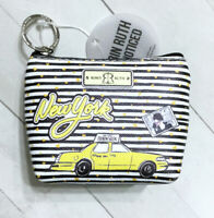 Robin Ruth Zip Coin Pouch New York City Fashion Week Taxi Striped