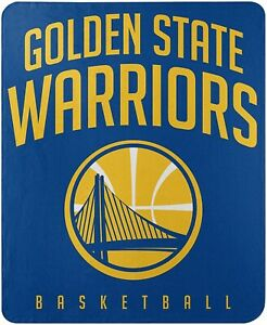 Golden State Warriors Layup Design 50x60 Soft Fleece Throw Blanket Basketball