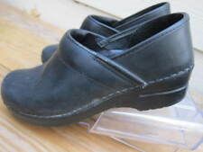 Dansko Slip on Clogs Womens Size 38 / US 7.5-8 Matte Black Leather