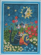 Counted Cross Stitch Kit, Cats Under The Sun