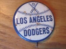"1960's PM10 Baseball Stadium Pin Los Angeles Dodgers ""Crossed Bats"" 1 3/4"" blue"