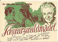 Film, Schwarzwaldmädel, BRD Werbe-AK v. 1950 m. gedruckten Unterschriften. #S389