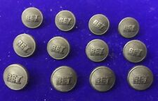 12 Vintage Black Plastic BET Military Shipping Transport Railway Livery Buttons