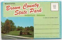 Brown County State Park Nashville In Souvenir Folder 14 Views Vintage Indiana