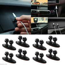 8PCS Adhesive USB Cable Line Cord Lead Clip Clasp Clamp Car Organiser Tidy