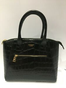 New Osprey London Women Shoulder bag Black Aspen Grab Croc