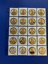 1961-62 Boston Bruins Sheriff Coins #1-20 Complete Set