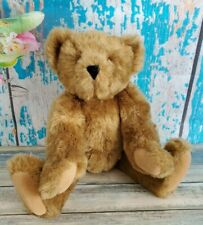 """Vermont Teddy Bear Co Jointed Plush Stuffed Toy 16"""" Honey Brown Euc"""