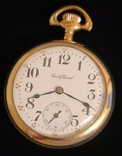 Size 18 Pocket Watch 14k Gold Filled Case New listing Awesome 1905 South Bend 341 17 Jewel